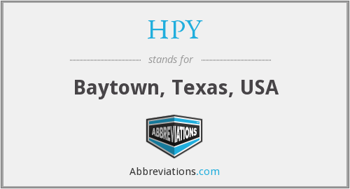 What does HPY stand for?