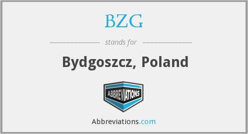 What does BZG stand for?