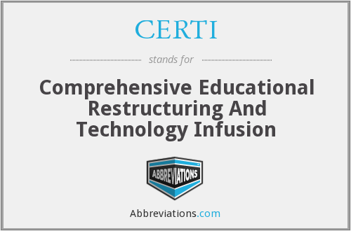 What does CERTI stand for?