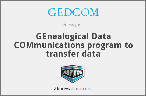 What does GEDCOM stand for?