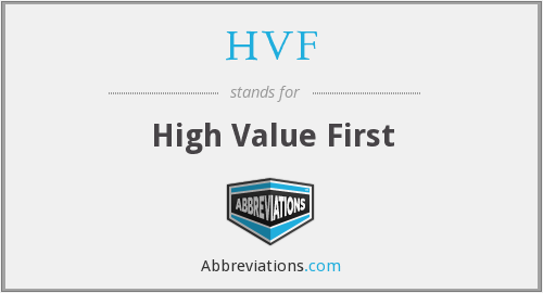 What does HVF stand for?