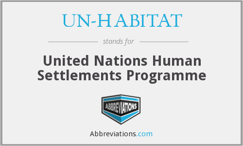 What does UN-HABITAT stand for?