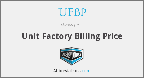 What does UFBP stand for?