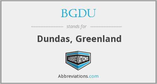 What does BGDU stand for?