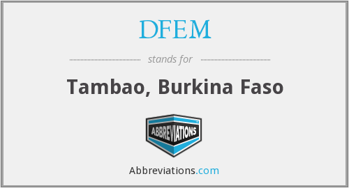 What does DFEM stand for?