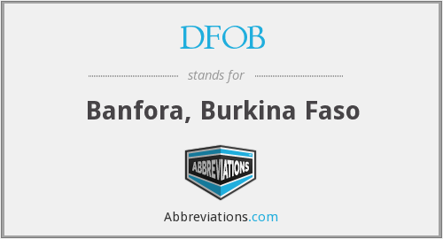 What does DFOB stand for?