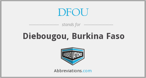 What does DFOU stand for?