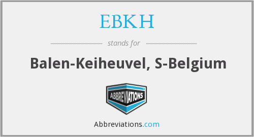 What does EBKH stand for?