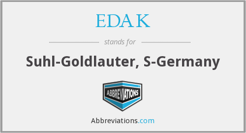 What does EDAK stand for?