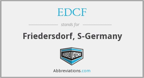 What does EDCF stand for?