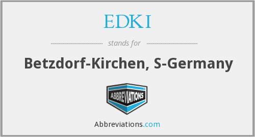 What does EDKI stand for?