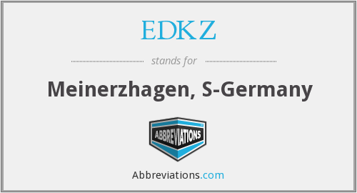 What does EDKZ stand for?