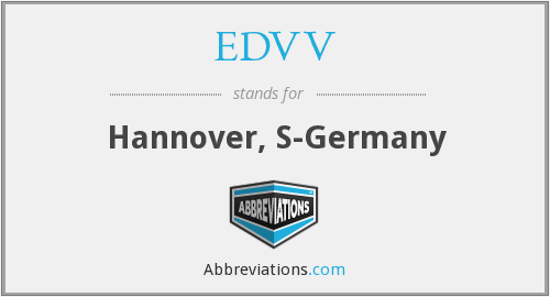 What does EDVV stand for?