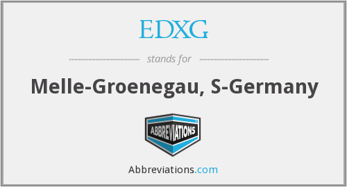 What does EDXG stand for?