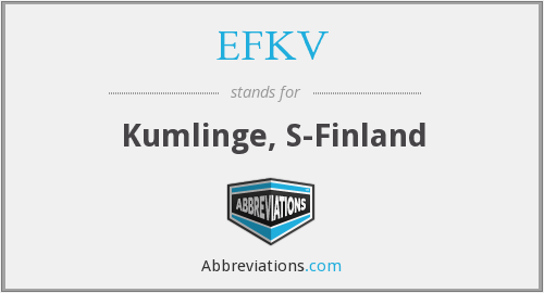 What does EFKV stand for?