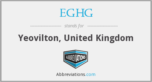 What does EGHG stand for?