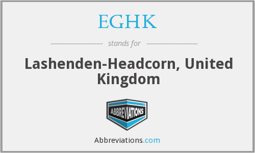 What does EGHK stand for?