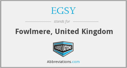 What does EGSY stand for?