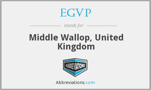 What does EGVP stand for?