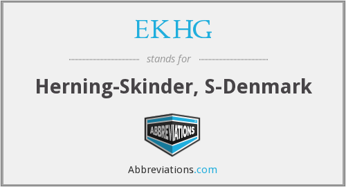 What does EKHG stand for?