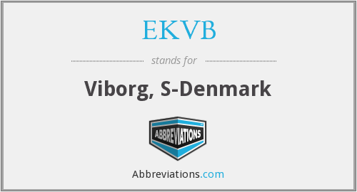 What does EKVB stand for?