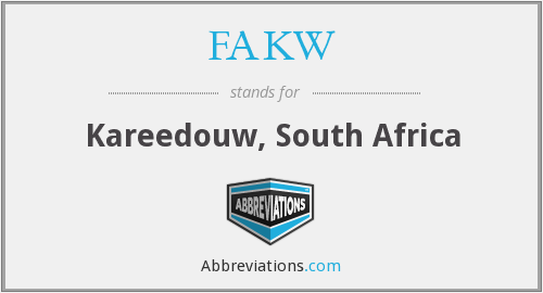 What does FAKW stand for?
