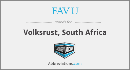 What does FAVU stand for?
