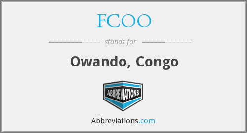What does FCOO stand for?