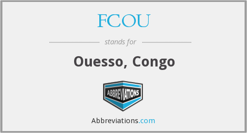 What does FCOU stand for?