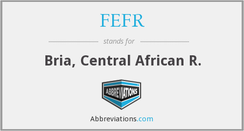 What does FEFR stand for?