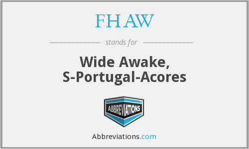 What does FHAW stand for?