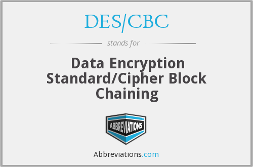 What does DES/CBC stand for?