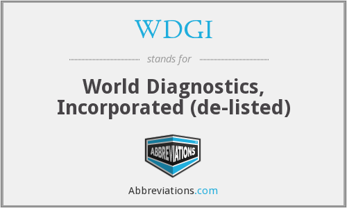 What does WDGI stand for?