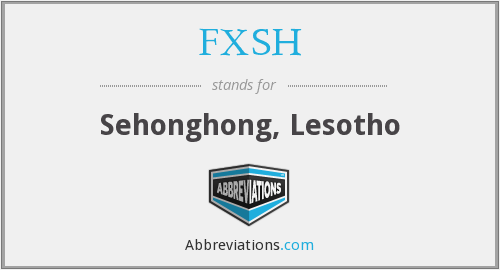 What does FXSH stand for?