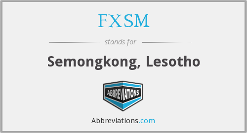 What does FXSM stand for?