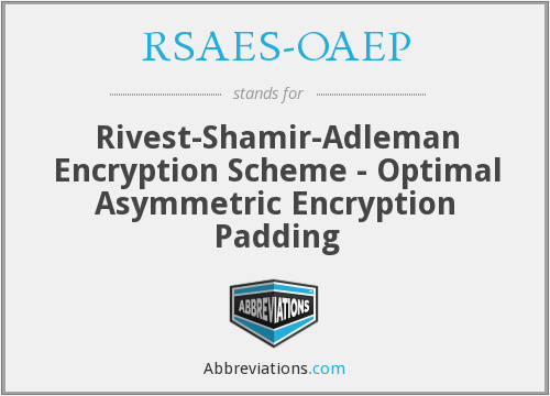 What does RSAES-OAEP stand for?