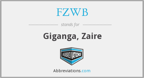 What does FZWB stand for?