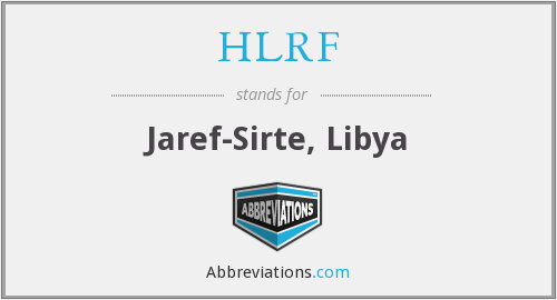 What does HLRF stand for?