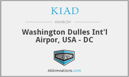 What does KIAD stand for?