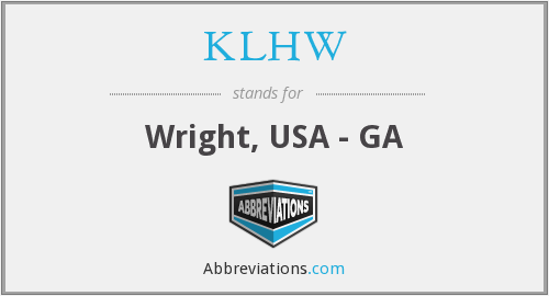 What does KLHW stand for?