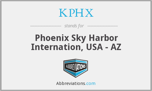 What does KPHX stand for?