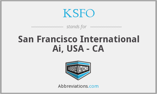 What does KSFO stand for?
