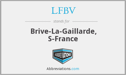 What does LFBV stand for?