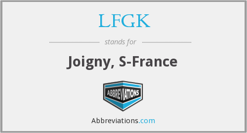 What does LFGK stand for?