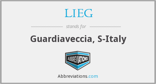 What does LIEG stand for?