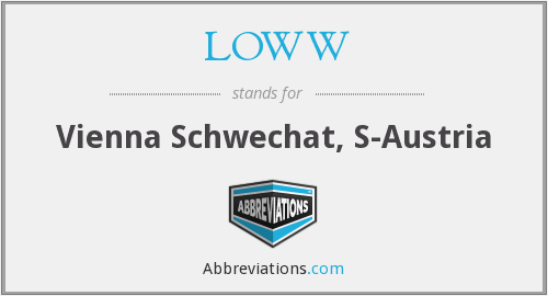 What does LOWW stand for?