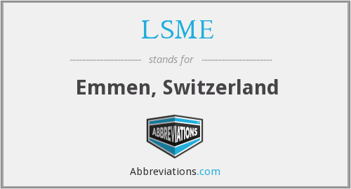 What does LSME stand for?