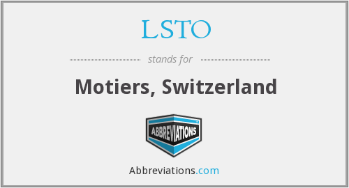 What does LSTO stand for?