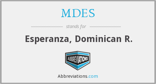 What does MDES stand for?