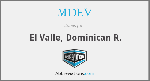What does MDEV stand for?